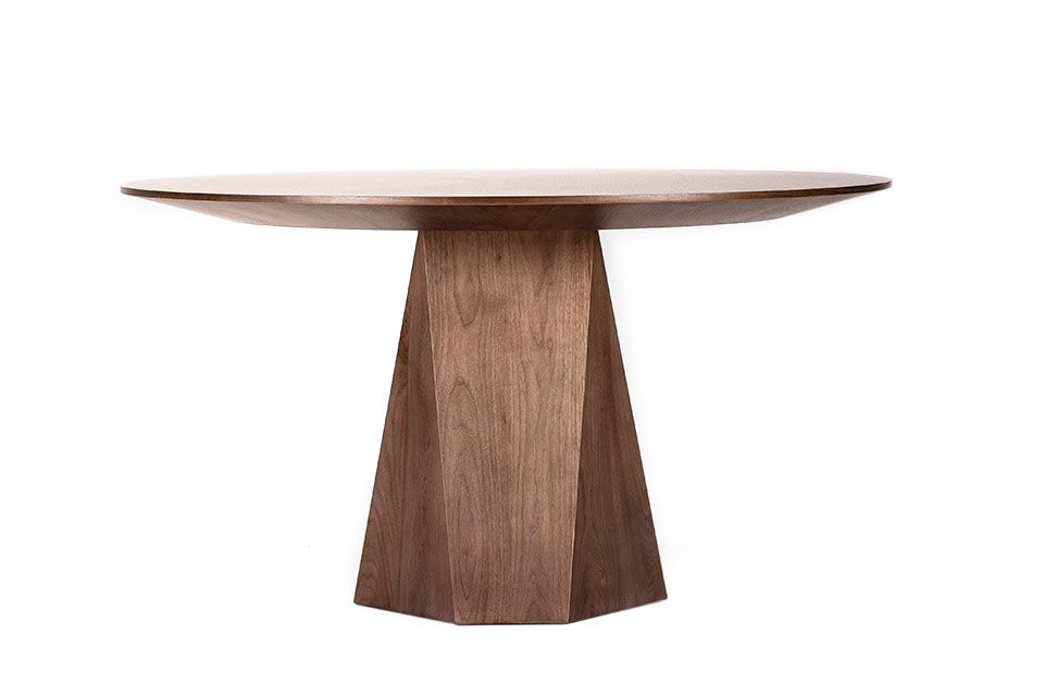 Malaga Table Anees Upholstery Dimensions Overall 54 Diameter X 30 H Finish Light Walnut