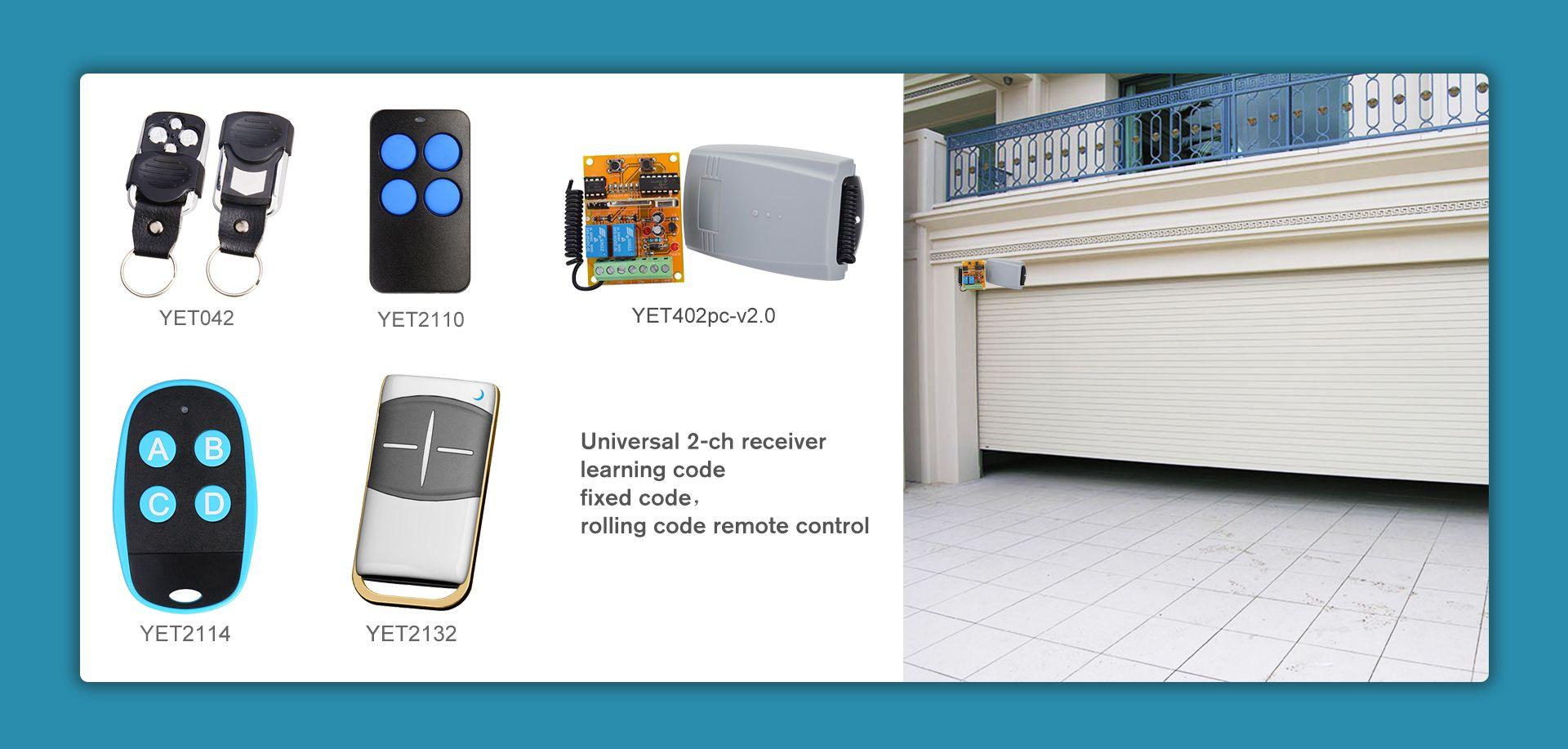 Universal 2 Channel Wireless Receiver Universal Garage Door