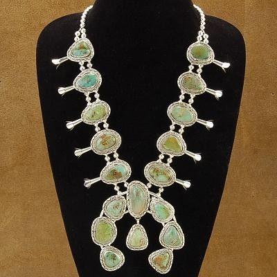 Native American Squash Blossom - Turquoise Squash Blossom - Navajo Squash Blossom Necklace | Alltribes