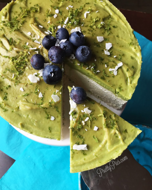 Low Carb Lime Vegan Cheesecake | Pretty Pies