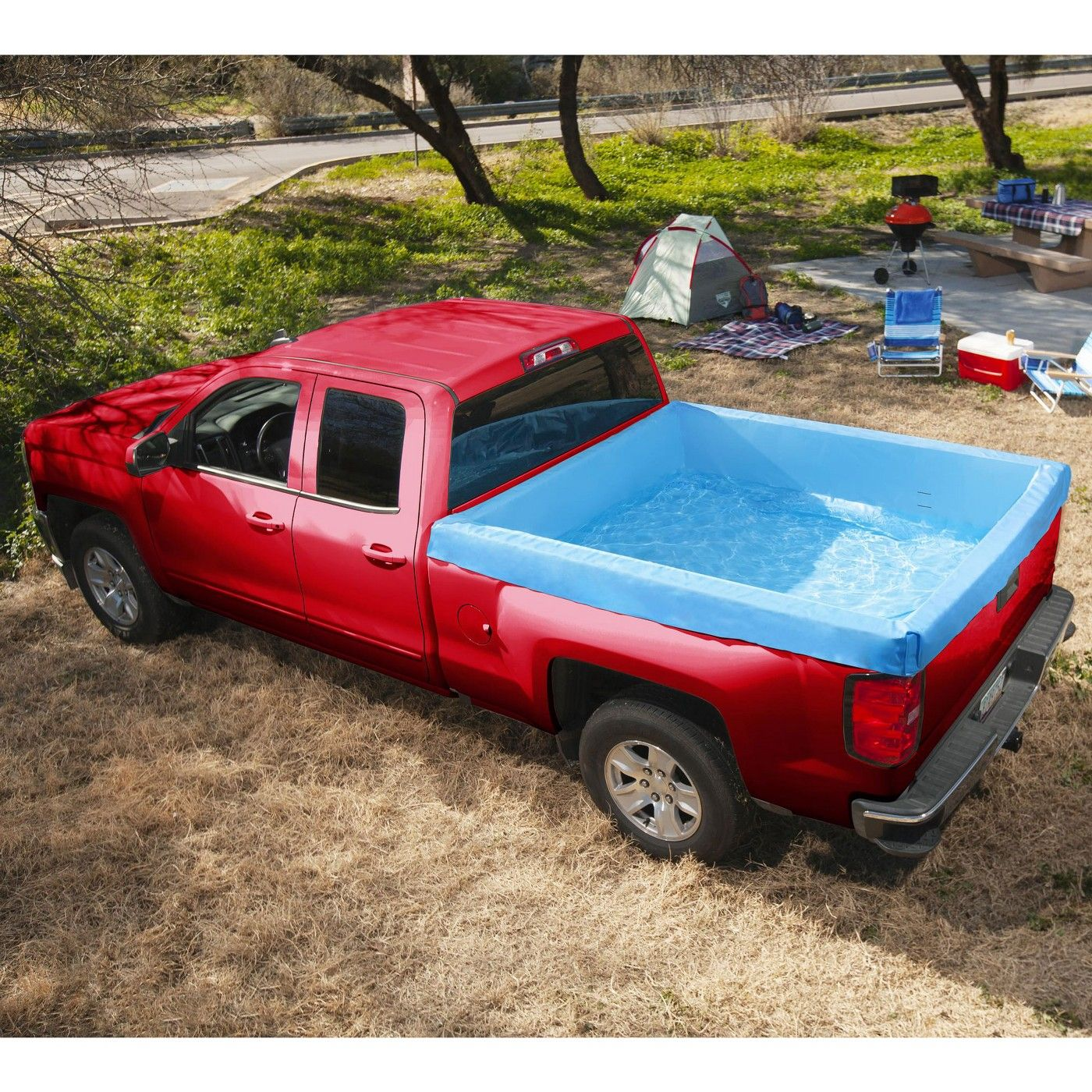 Bestway 54283e 67 X 65 X 21 Inch Portable Standard 5 5 Foot Payload Pickup Truck Bed Swimming Pool Made With Ultra Durable Pvc Material Pickup Trucks Bed Pickup Trucks Truck Bed
