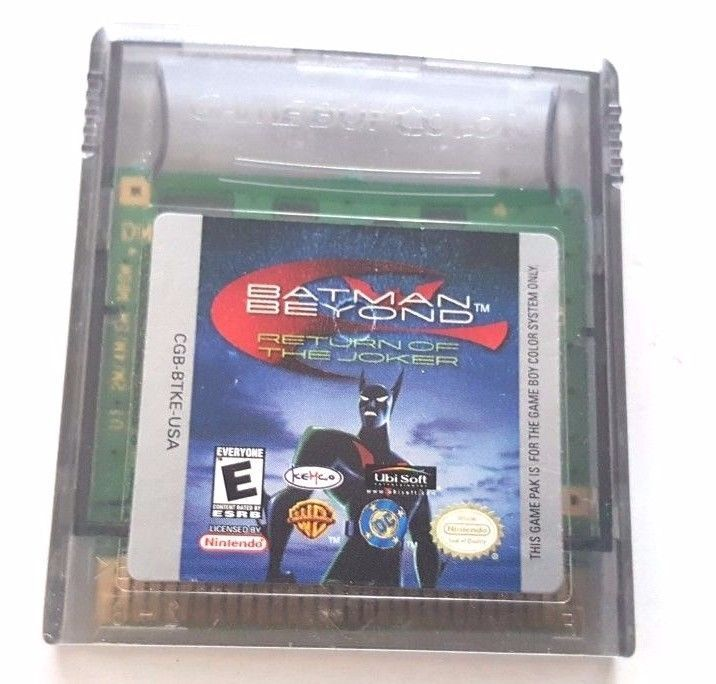 Gameboy Color Game Plays Gbc Gba Sp Batman Chaos In