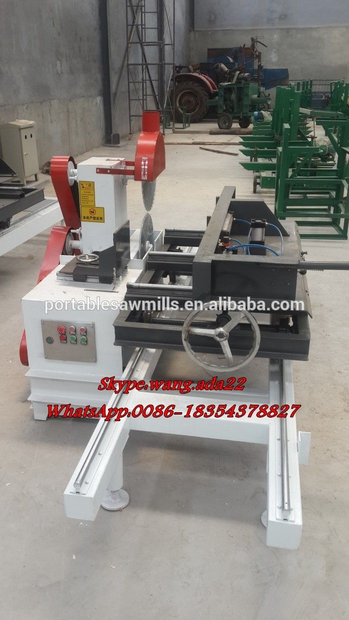 Mini Table Saw Circular Twin Blade Wood Sawmill Machine - Buy ...