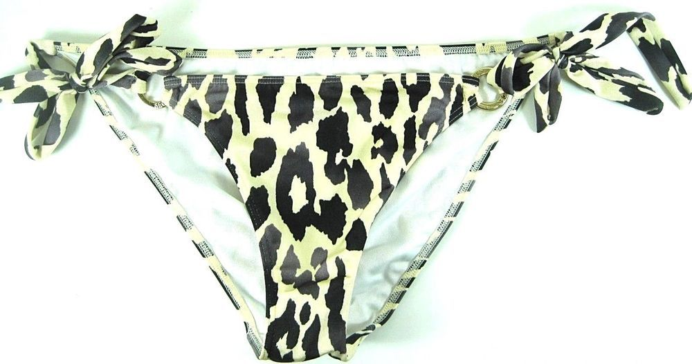Victoria Secrets Swimwear Bottom Size M Beige Gray Black Elastane. GAG 3 #VictoriasSecret #BikiniBottom