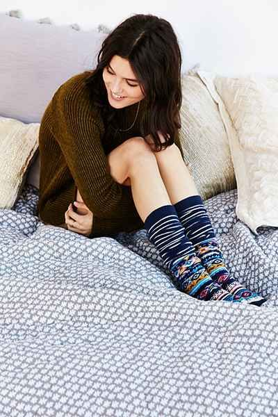 2fb5068f589 Winter Fair Isle Over-The-Knee Sock - Urban Outfitters