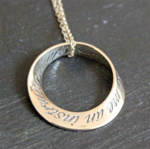 St Francis Prayer Mobius Necklace  $51.75