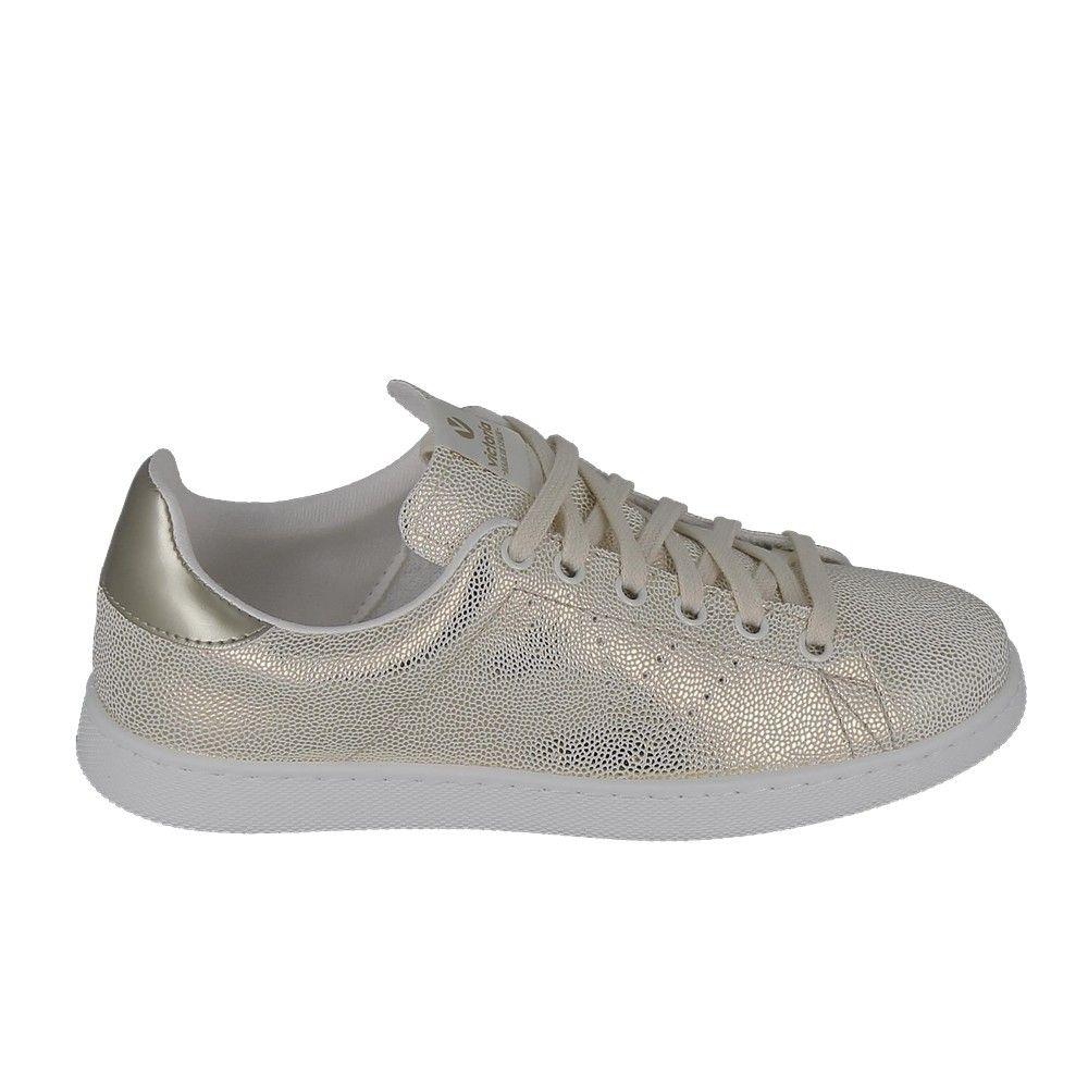 Basket -mode - Sneakers VICTORIA Sneakers 1125128 Blanc Franges Roses EL90dq