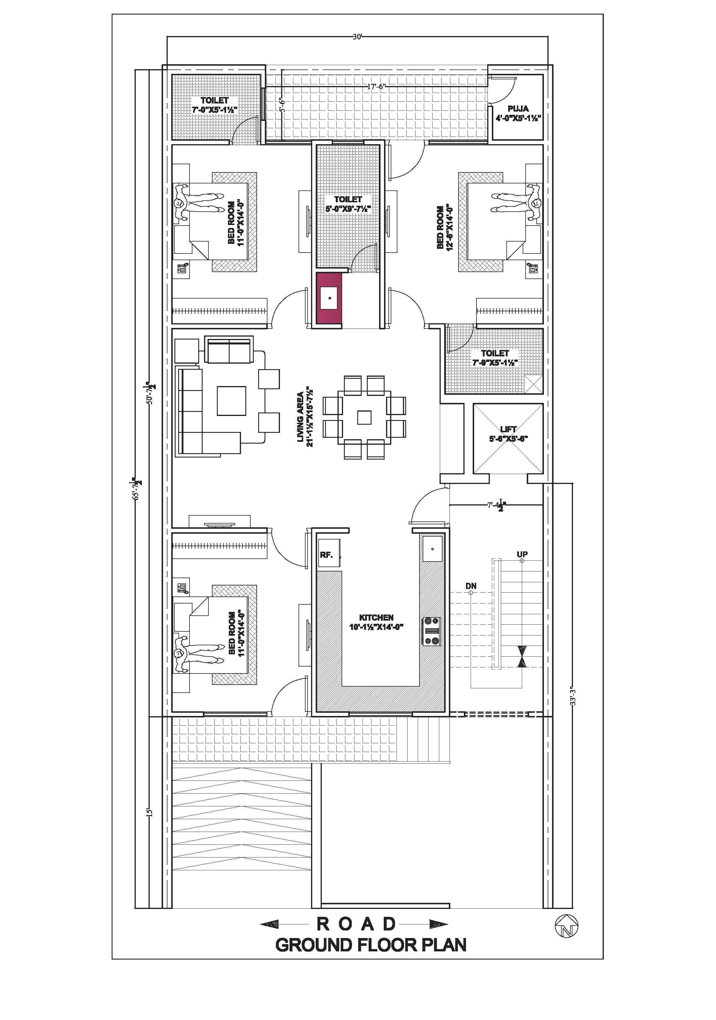 20 50 House Floor Plan According To East South North West Side House Floor Plans House Map Floor Plans