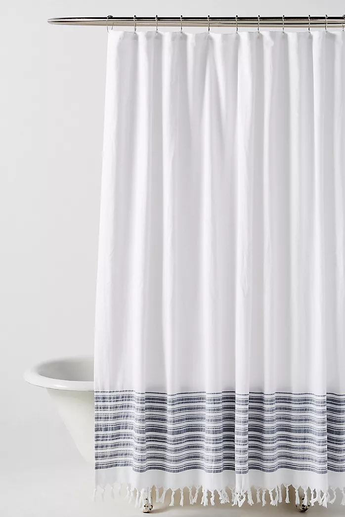 Textured Indira Pillow In 2020 Boho Shower Curtain White Shower Curtain Modern Shower Curtains