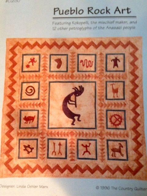 Southwestern Art Quilt Pattern Kokopelli Applique and Piece ... : kokopelli quilt pattern - Adamdwight.com