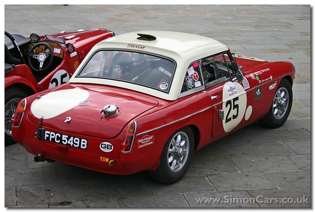 MORRIS GARAGES WORKS - MGB FIA Race Cars competed