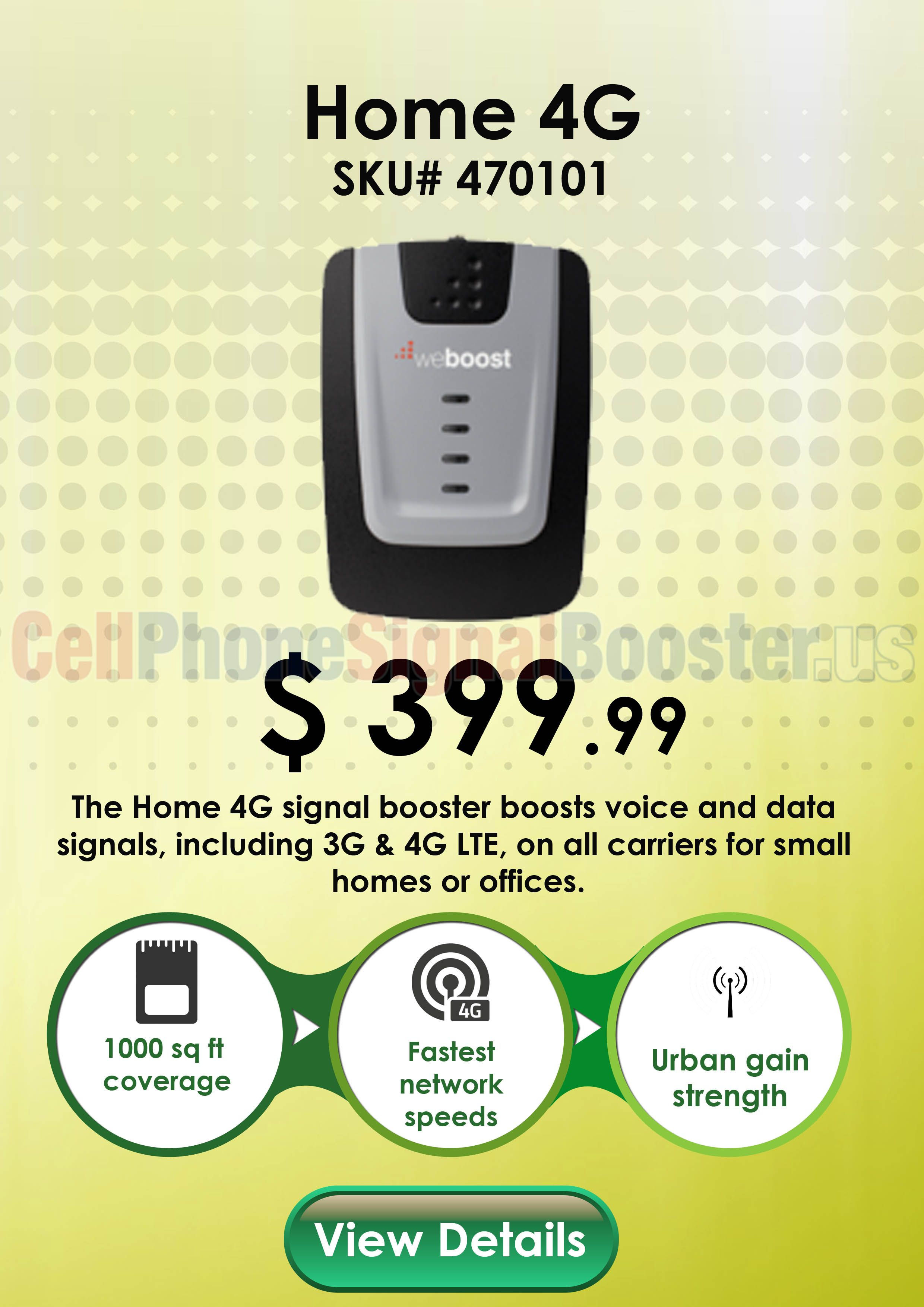 Weboost Home 4g 470101 Desktop Booster Kit With Surge Protector Cell Phone Booster Boost Mobile Cell Phone Carrier