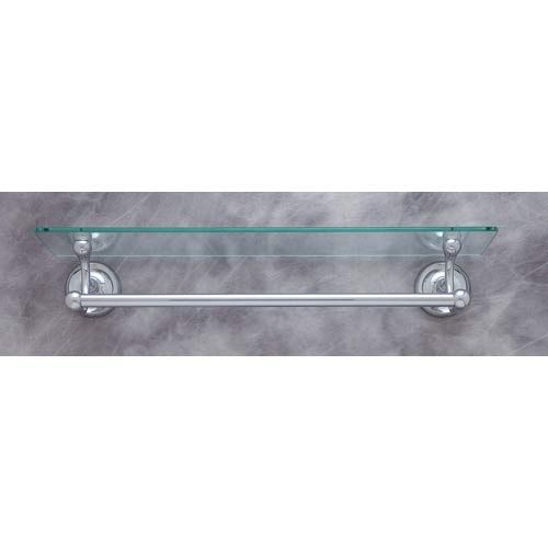 Plain Chrome 22 Inch Glass Shelf With 18 Inch Towel Bar Jvj Hardware ...