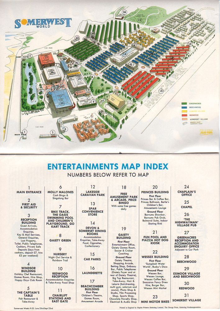 Minehead Map From 1990