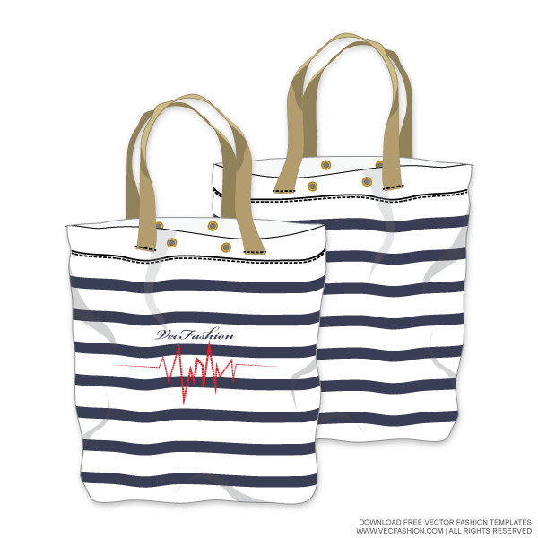 Women S Tote Bag Vector Template Vecfashion Womens Tote Bags Tote Bag Costume Bags