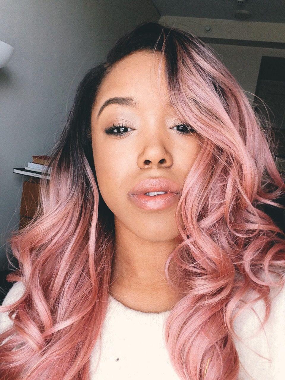 Pink Rose Gold Hair Pinkhair Freetress Rose Gold Hair