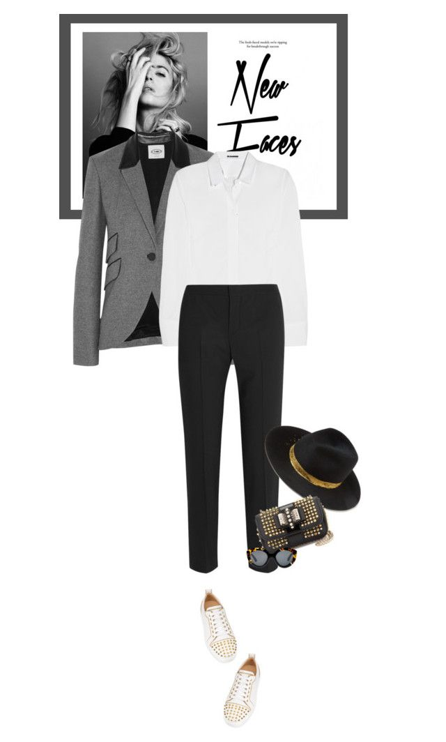 """""""Fridays - 20.11.15"""" by matilda66 ❤ liked on Polyvore featuring Topshop, Nico, Tod's, Jil Sander, Chloé, Eugenia Kim, Christian Louboutin and Karen Walker"""