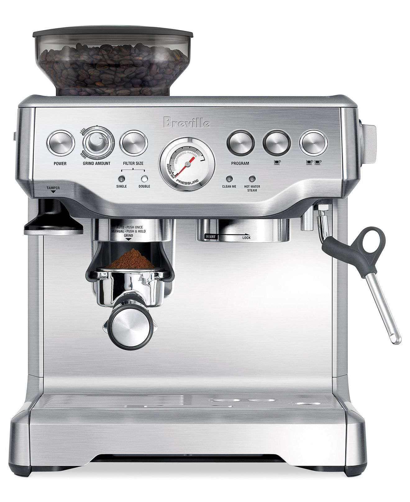 Breville Bes870xl Barista Express Espresso Maker Review In 2020 Coffee Machine Home Coffee Stations Coffee Maker