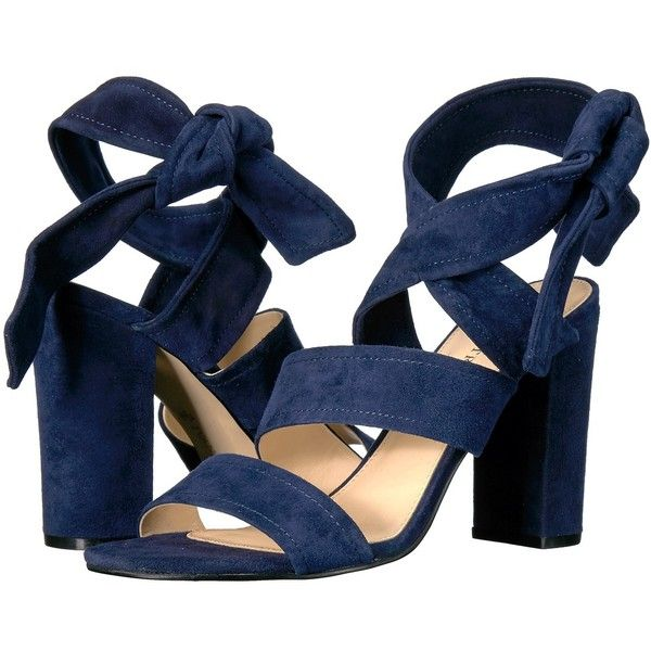 Ivanka Trump Kiffie (Dark Blue FH Kid Suede) High Heels ($130) ❤