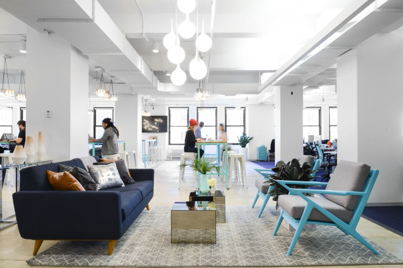 Flexing Design Muscles At Classpass Headquarters Corporate Interiors Lounge Seating Interior Design