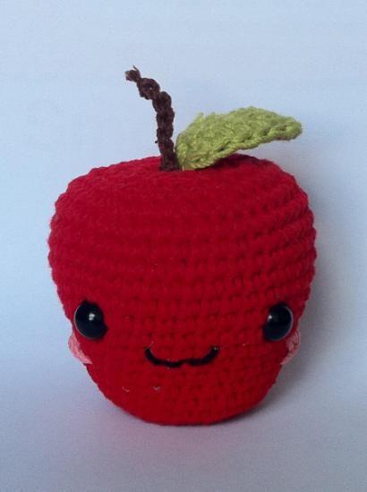 Manzana amigurumi | Tutti frutti | Pinterest | Día de los maestros ...