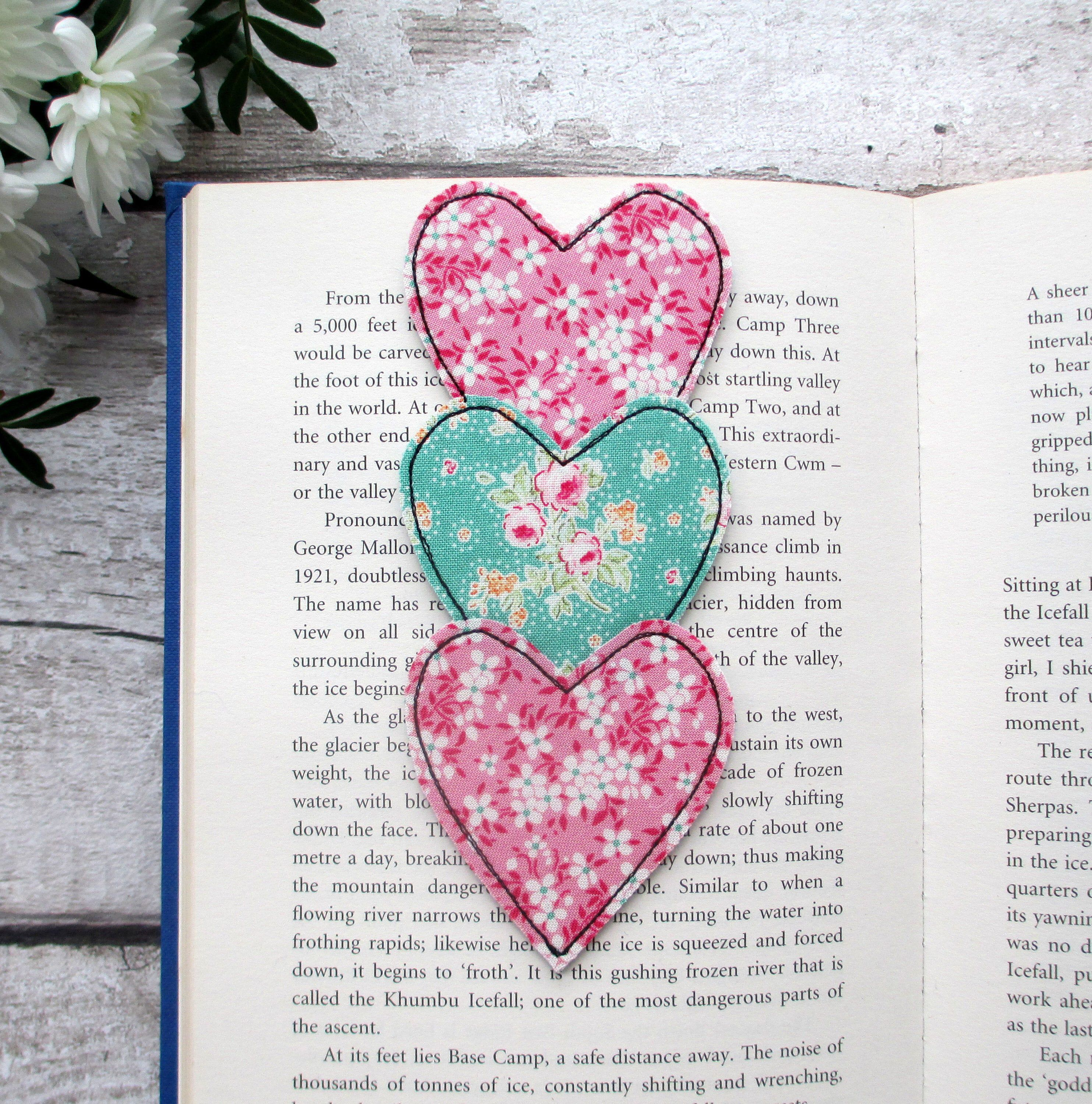 Heart Trio Bookmark, Reading Gift For A Book Lover