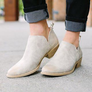 e5fdb84e6 Plus Size Chunky Heel Short Boots Female Non-slip Cute Bootie ...