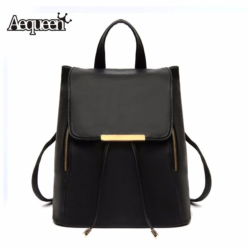 Fashion 2016 Women Backpack High Quality PU Leather backpacks ...