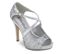 cute criss cross silver shoes