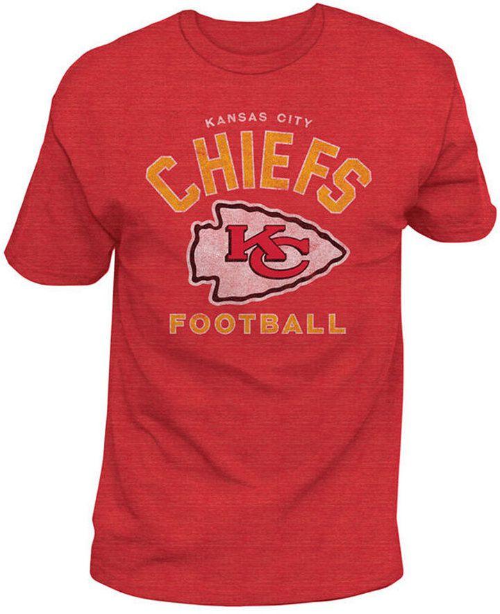 Authentic Nfl Apparel Men s Kansas City Chiefs Midfield Retro T-Shirt 536f82703
