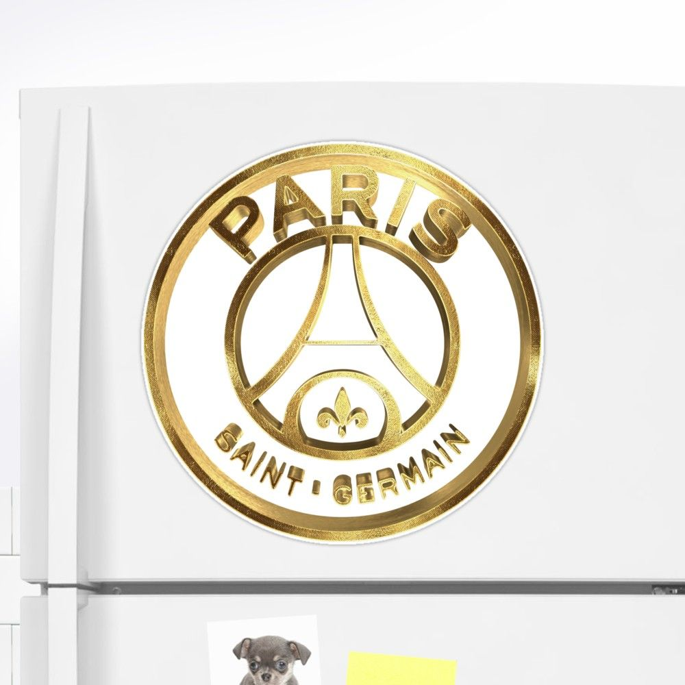 ff391c6eb PSG Paris St Germain Gold Extra Large Sticker by Under The Table #PSG #paris  #stgermain #france #soccer #neymar #mbappe #champions