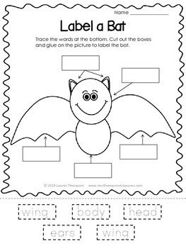 label a bat freebie halloween halloween activities, halloween First Grade Bat Diagram