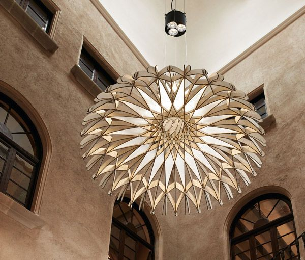Pendant lamp / contemporary / beech / wood veneer - DOME 90 by Benedetta Tagliabue - BOVER Barcelona - Videos