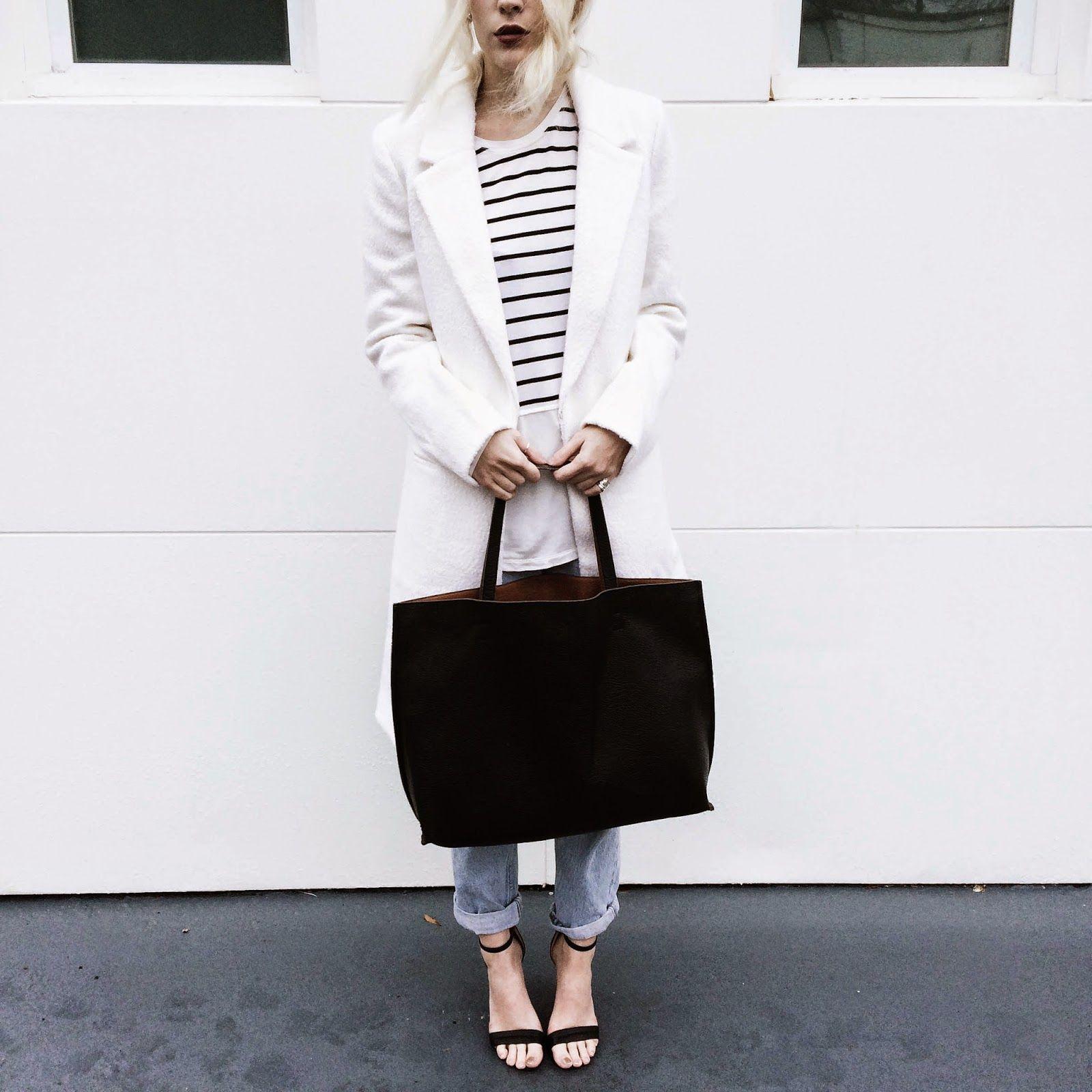 The Blonde in Boots: Monochrome + Denim