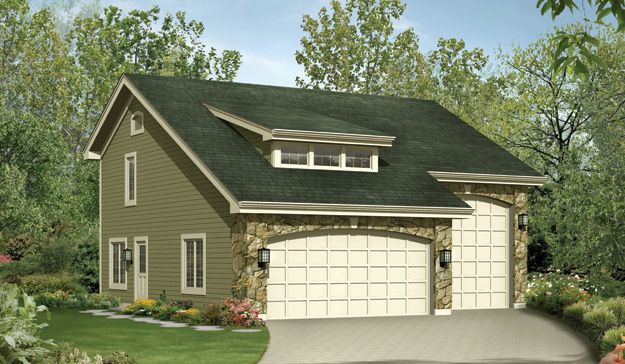 Two Car Garage Rv Garage And 1 One Bedroom Apartment With Bay Windows For Dining Area Garage