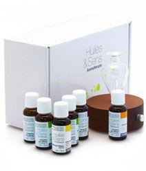 Coffret Diffusion de chez Huiles & Sens Aromatherapie (http://www.huiles-et-sens.com/Coffret-Diffusion/)