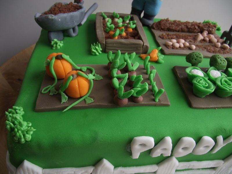 Vegetable garden cake cakes and cupcakes pinterest for Vegetable garden cake ideas