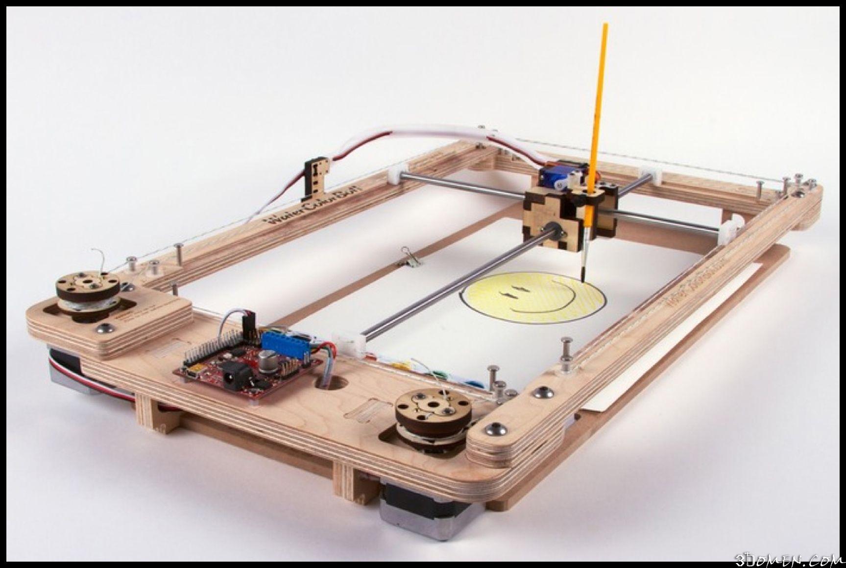 Watercolorbot Robot Risuet Kopii Cifrovyh Izobrazhenij