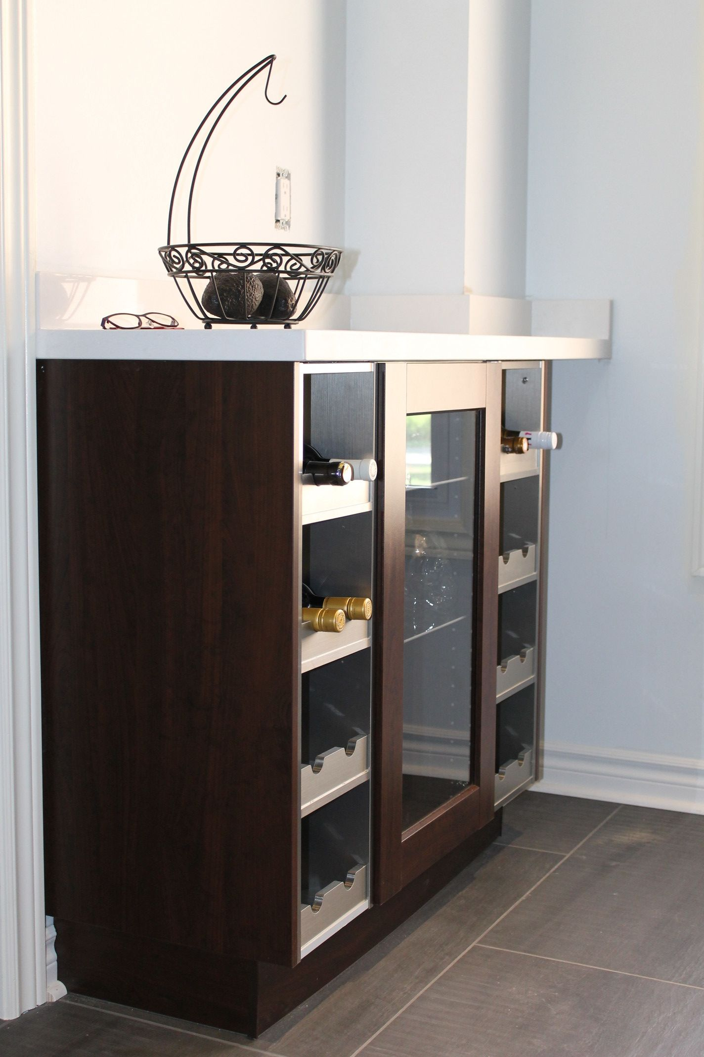 IKEA Wine Cabinet. Wine Rack. Stainless Steel. IKEA