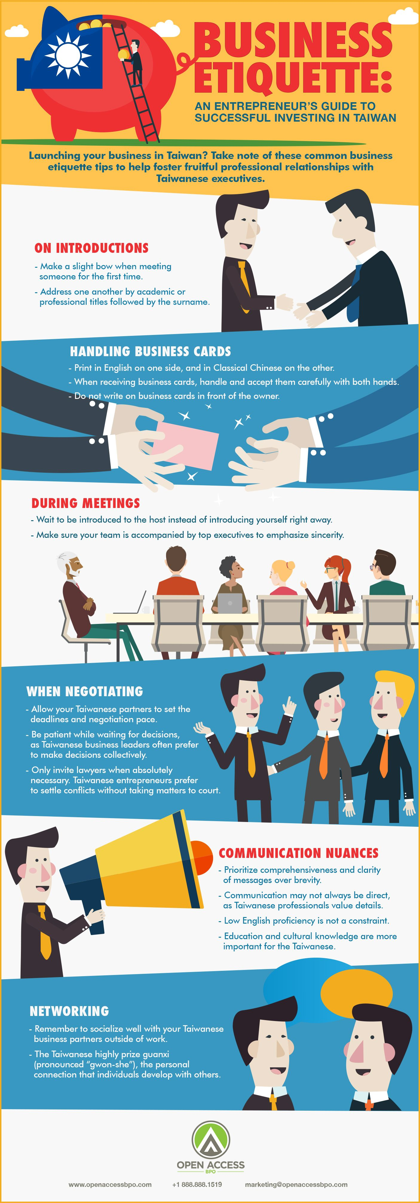 Business Etiquette: An entrepreneur's guide to successful investing in Taiwan #infographic