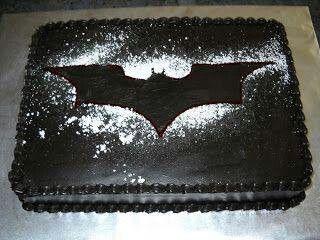 Batman Dark Knight Cake Finally Made This Cake I Sprayed Over - Dark knight birthday cake