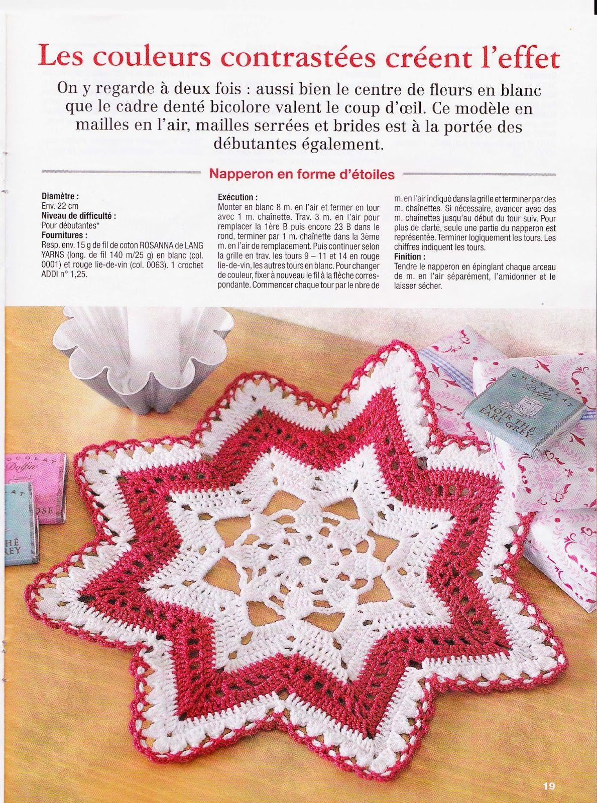 Nappe Lie De Vin diana168_0017 (1189×1600) | crochet placemats, crochet
