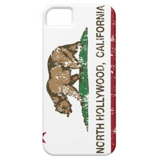 California Republic Flag North Hollywood Cover For iPhone 5/5S