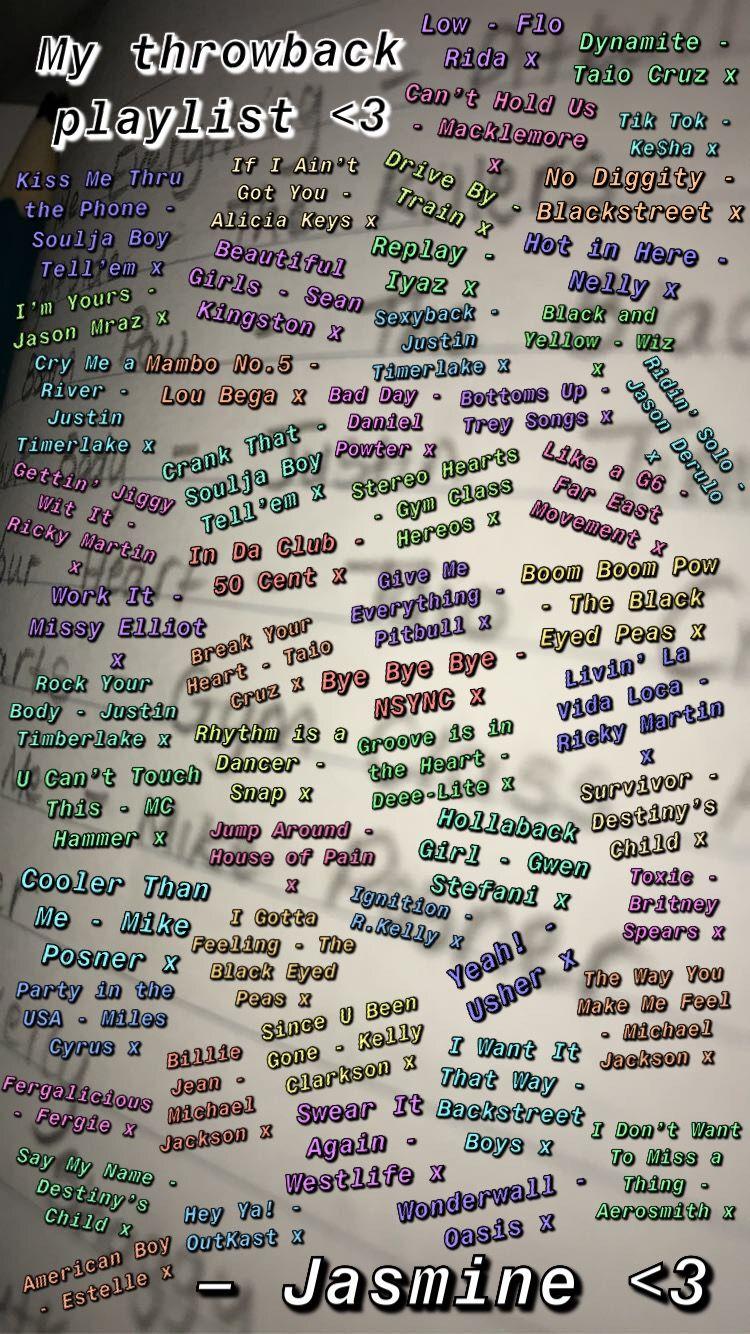My Throwbacks Playlist Pt 1 In 2020 Throwback Playlist Playlist Macklemore