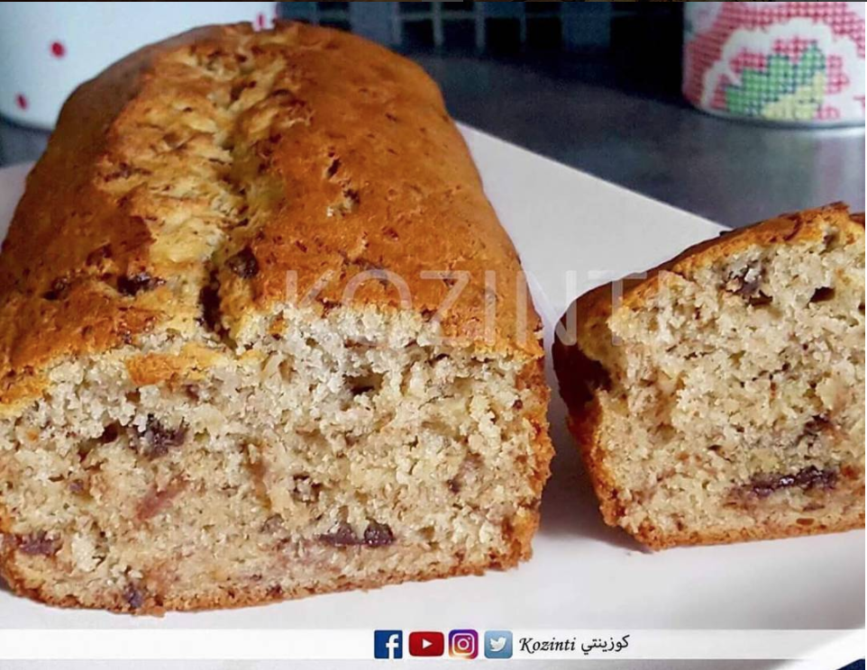 كوزينتي تقدم لكم وصفة الإكلير الكيكة بالموز و الشكلاط Gateau Banane Chocolat وصفة سهلة و لذيذة هاد الوصفة كاتجي كوطي زوين و كاي Food Desserts Banana Bread