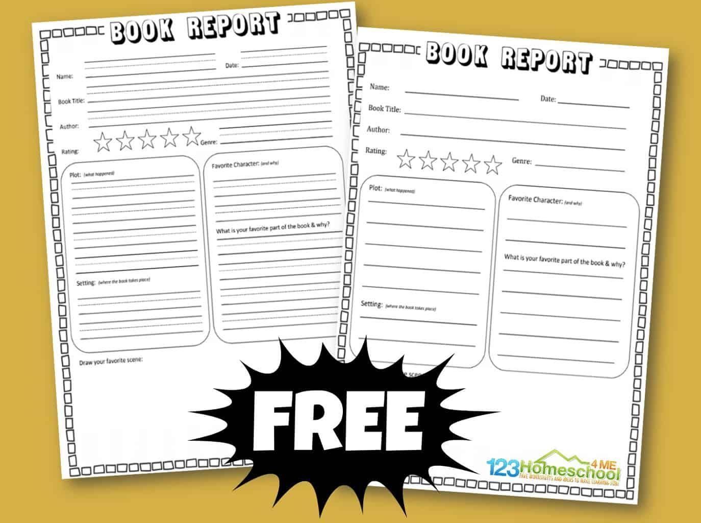 Free Book Report Template