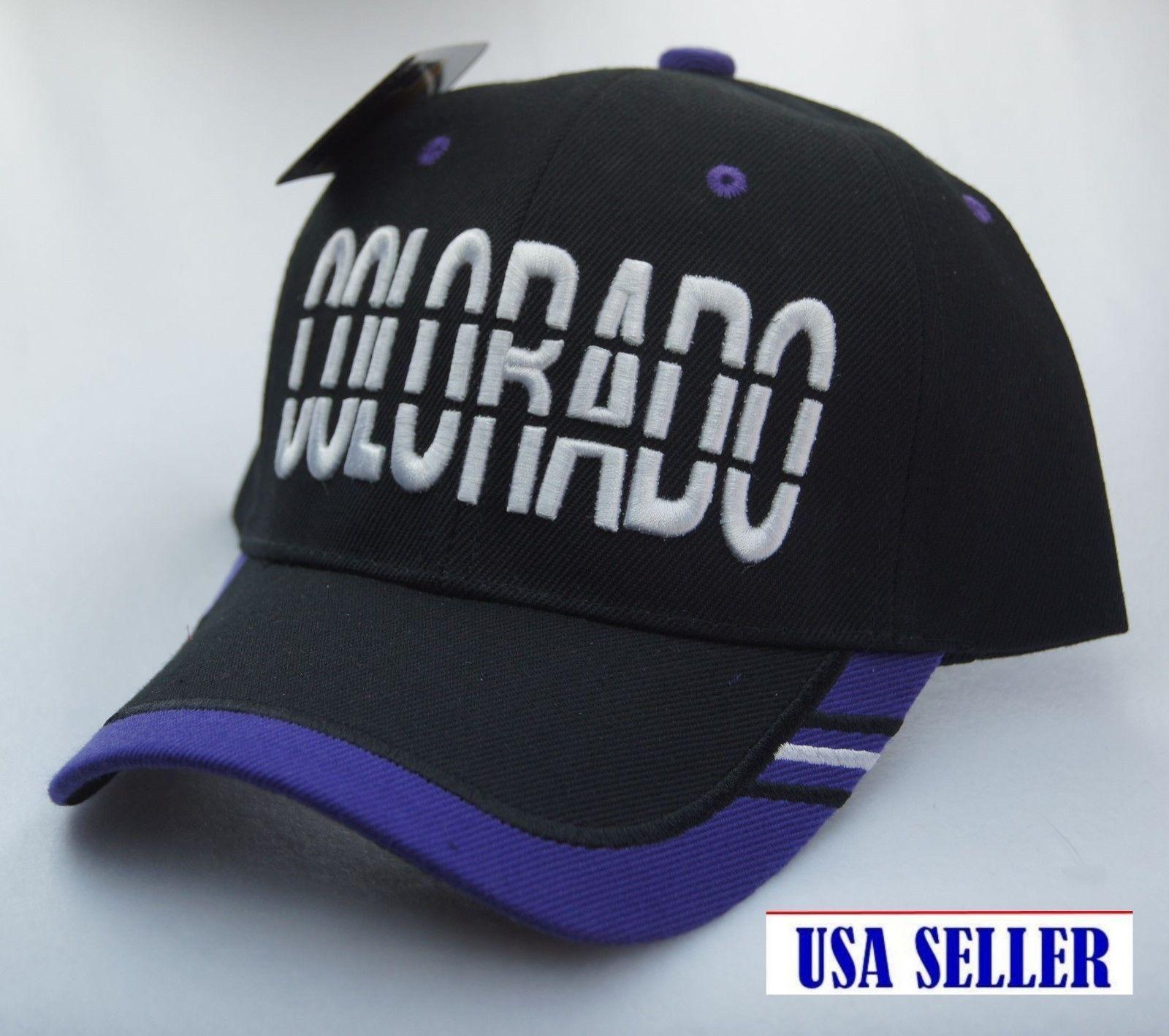 9207765c698 New COLORADO LOGO Baseball Caps Curved Bill Hat Adjustable Velcro ...