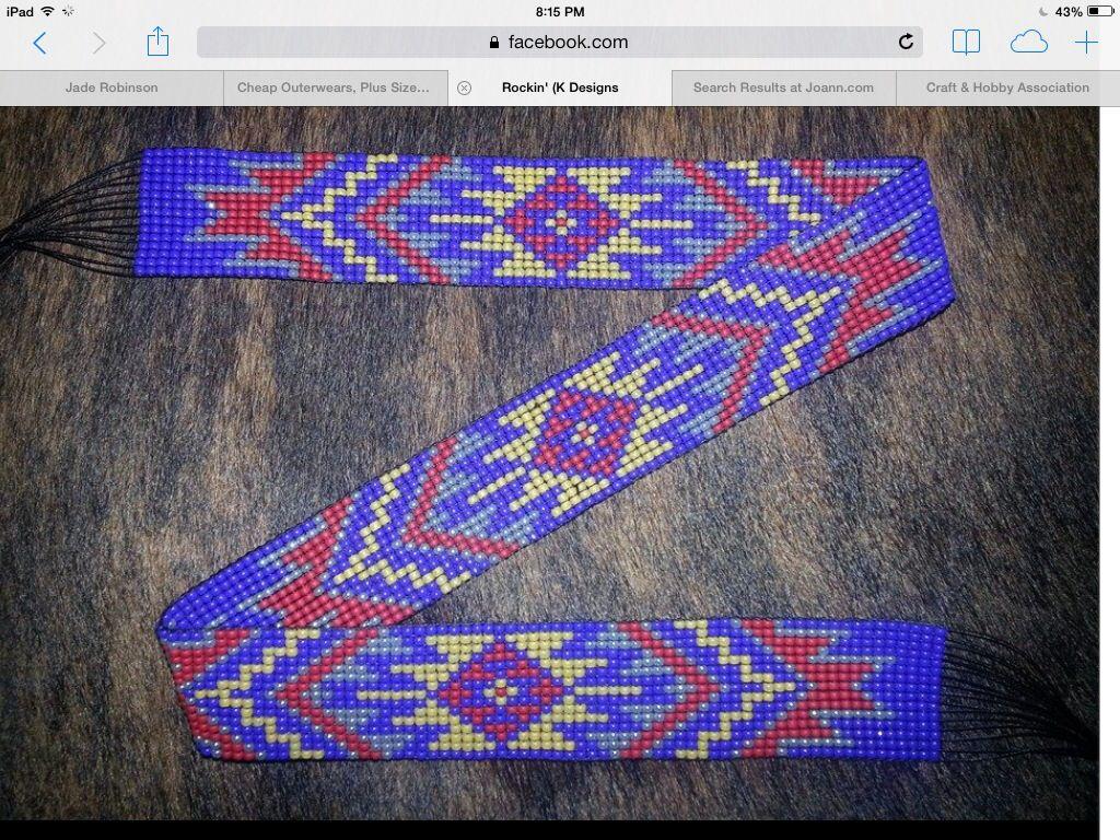 beaded belt beadwork and loom