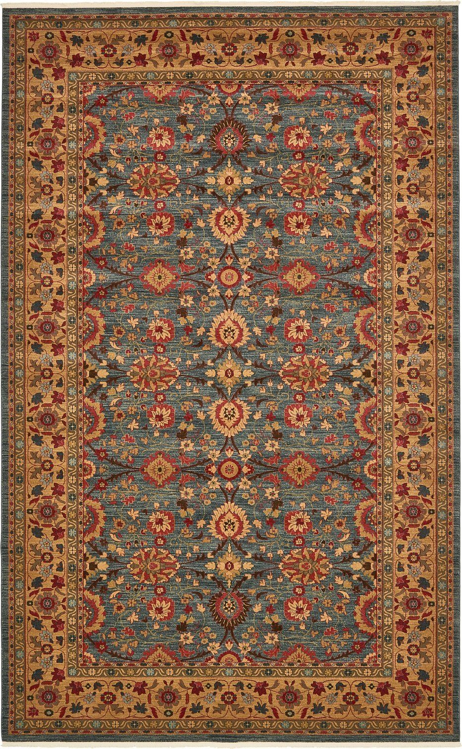 A2z Rug Heritage Collection Persian Traditional Area Blue Brown 10 6 X