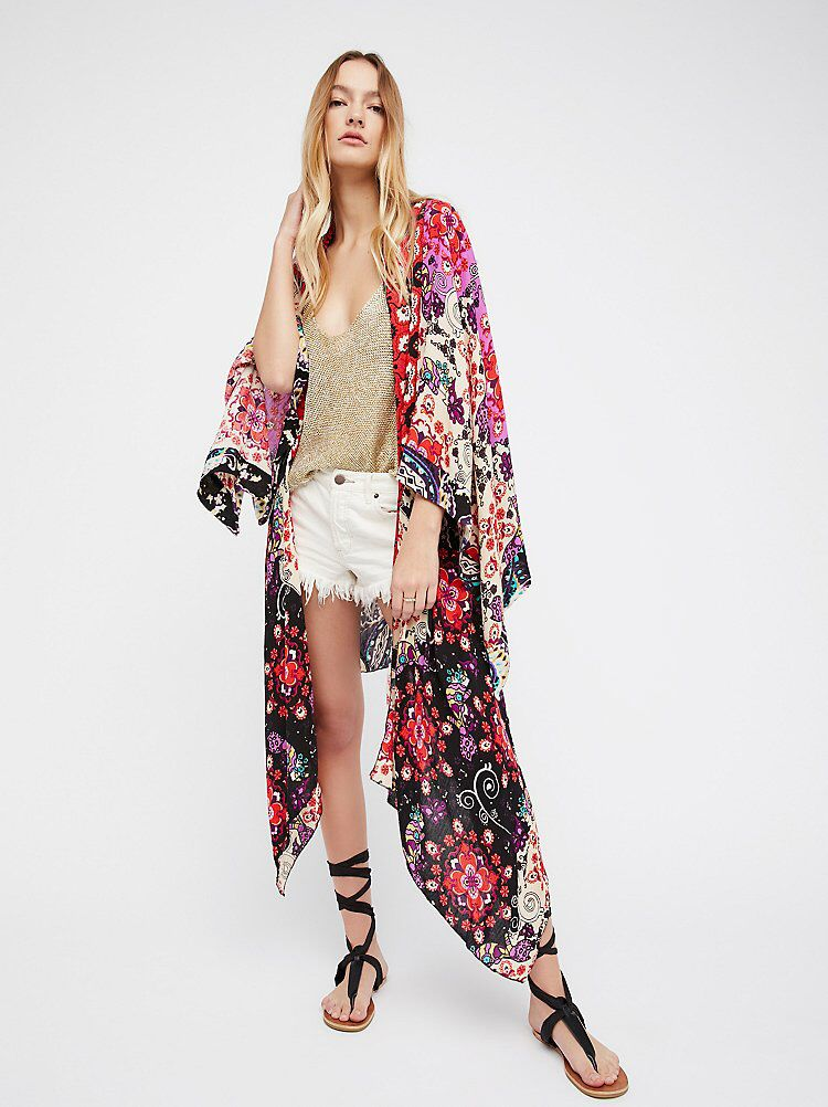 ae233e822d307 Little Wing Mix Print Kimono in 2019 | Bohemian Chic | Mixing prints ...